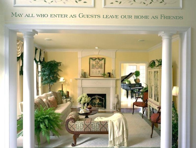 Living room entrance decor idea - living room entrance | living room entrance