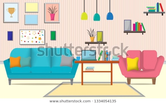 Living Room Furniturethere Many Things Such Stock Vector (Royalty ..   living room things