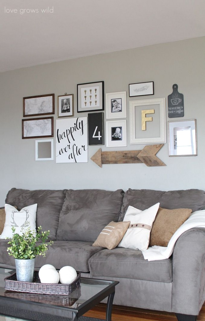 Living Room Gallery Wall | Cheap home decor, Home living room .. | living room gallery wall