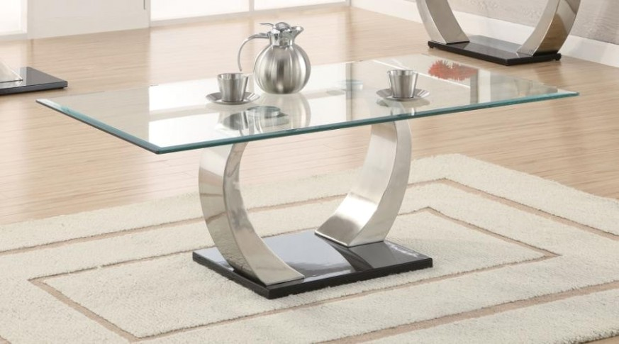 LIVING ROOM: GLASS TOP OCCASIONAL TABLES - Contemporary Coffee Table - living room table | living room table
