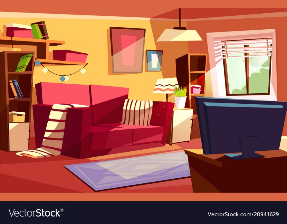 Living room interior cartoon - living room cartoon | living room cartoon
