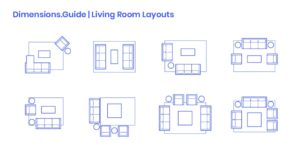 Living Room Layouts Dimensions & Drawings | Dimensions.Guide | living room dimensions