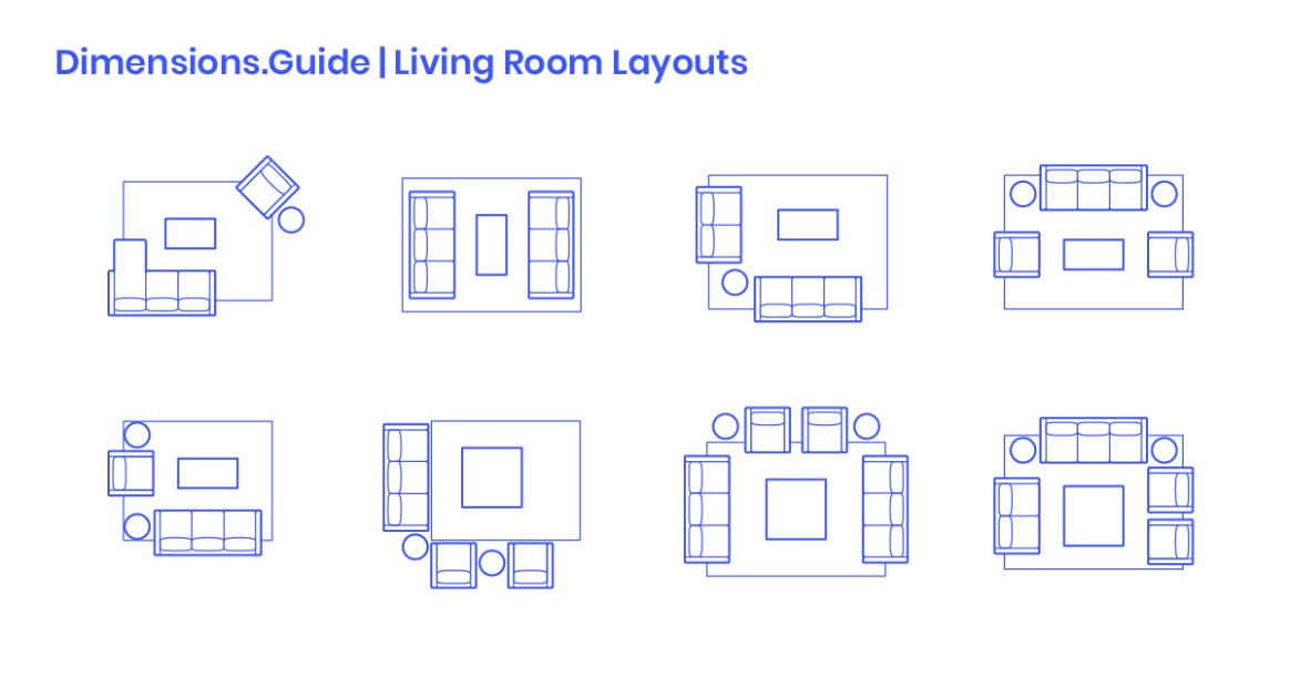 Living Room Layouts Dimensions & Drawings | Dimensions | living room dimensions