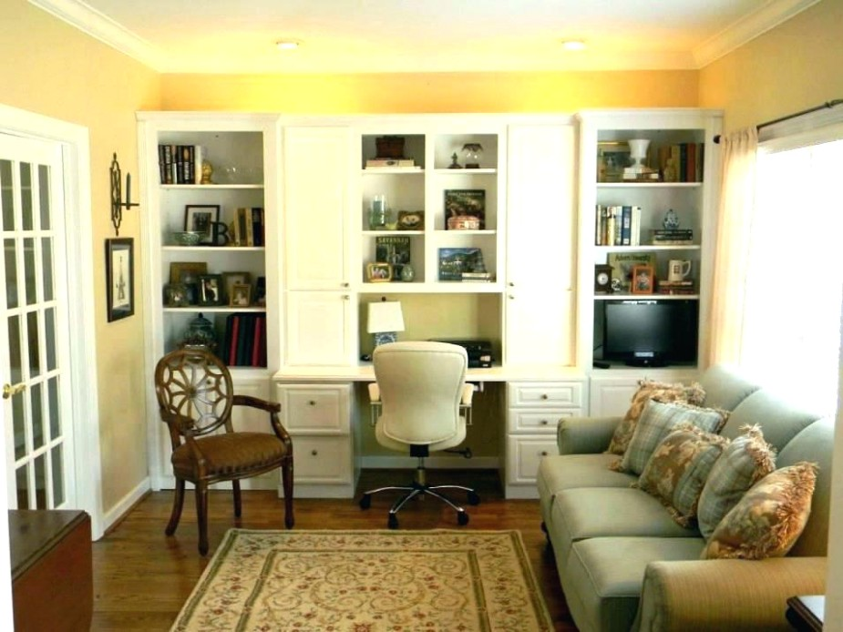 Living Room Office Combo Ideas Computer Desk Area In Small .. | living room office ideas
