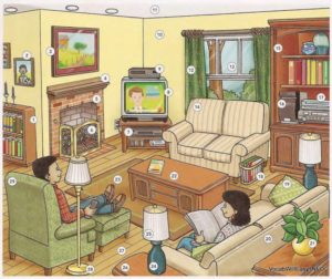 LIVING ROOM - Online Dictionary for Kids | living room things