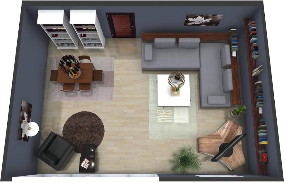 Living Room Plan | RoomSketcher - living room floor plan | living room floor plan