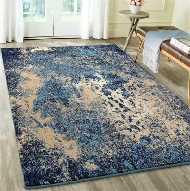 LIVING ROOM STYLISH LUXE ABSTRACT CARPET RUG BLUE GRAY RED AREA RUG LARGE  NEW - living room rugs 9x12 | living room rugs 9x12