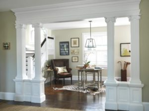 Living Room to Lobby - Traditional - Entry - Providence - by Kate ... | living room entrance design