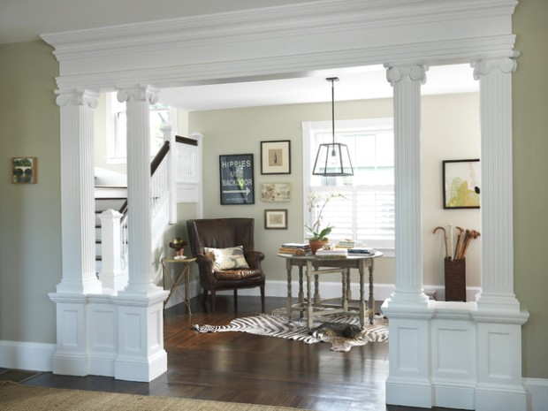 Living Room to Lobby - Traditional - Entry - Providence - by Kate .. | living room entrance design