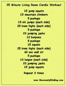 Living room workout#19 | Health fitness motivation, Workout, Living ... | living room exercises