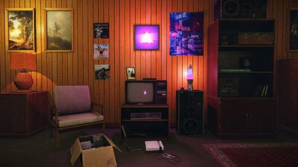 Low-Poly 14s Room Pack - living room 80s | living room 80s