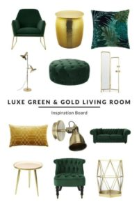 Luxe Green and Gold Living Room - Furnishful's Living Room Ideas ...   living room accessories