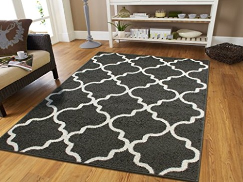 Luxury Rugs for Bedroom for Teens 19x19 Contemporary Rug Grey 19x19 Area Rugs  Morrocan Trellis Gray and White Modern Rugs For Living Room, 19x19 Rug - living room 5x8 rug | living room 5x8 rug