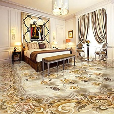 LWCX Custom Mural Wallpaper Living Room 16D Floor Tiles European .. | living room 3d