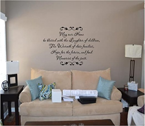 May Our Home Be Blessed | living room quotes for wall