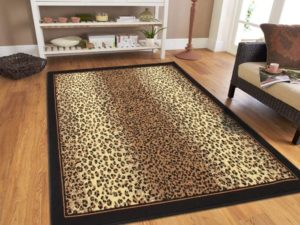 Modern Area Rugs Brown Cheetah Leopard 19x19 Rugs for Living Room 19x19 | living room 5x8 rug