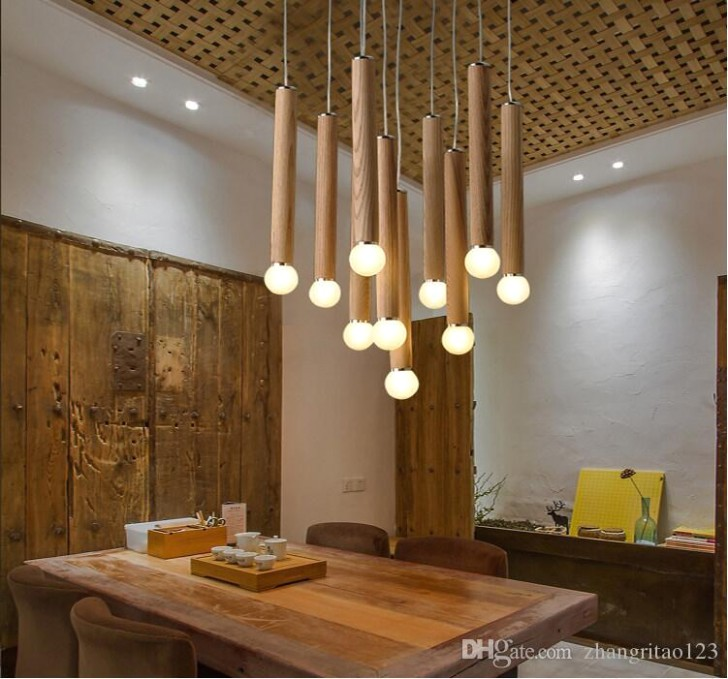 Modern Country Style LED Hanging Light Fashion Wood Pendant Lights Living  Room Hanging Lamp Verlichting Lamparas Home Lighting Double Pendant Light  .. | living room hanging light
