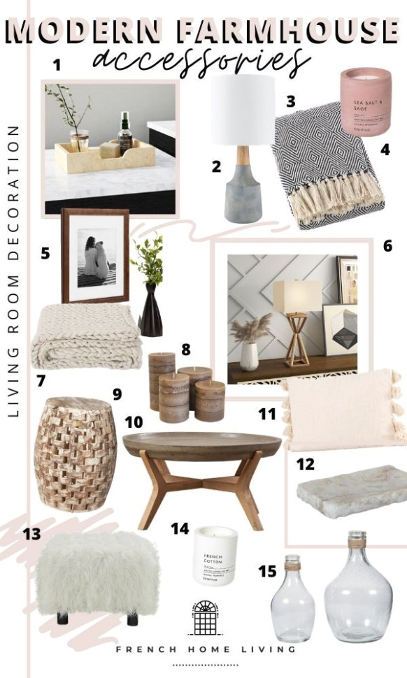 Modern Farmhouse Accessories: Living Room & Entryway | Favorite .. | living room accessories