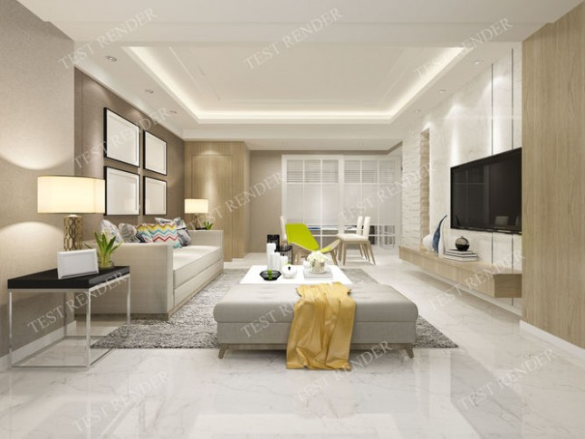 modern living room with tv | 16D model - living room 3d | living room 3d