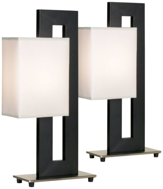Modern Table Lamp Set of 19 Black Floating Square for Living Room - Lamps  Plus - living room lamps | living room lamps