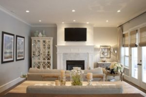 Moscow Bound: A Mid-Century Modern Home Boasts High-End Lamps ... | can lights living room