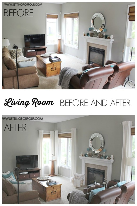 My #QuickandEasy Living Room: Before & After Makeover - Setting .. | living room makeover