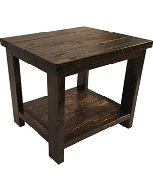 Nashwood Furniture Co. Farmhouse End Table - Rustic Living Room Side Table  from Amazon | Martha Stewart | living room end tables