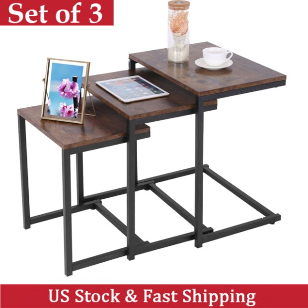 Nesting-Tables Coffee Table Sets of 13 Stacking Living Room End Side  Nightstands - living room table sets | living room table sets
