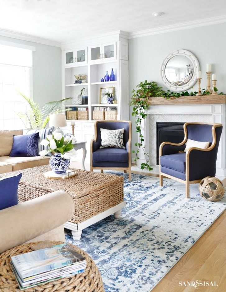 New Blue and White Living Room Updates | Blue, white living room .. | living room updates