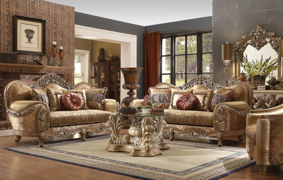New Formal Luxury Classic European Style 20 Piece Living Room Set .. | living room 5 piece sets
