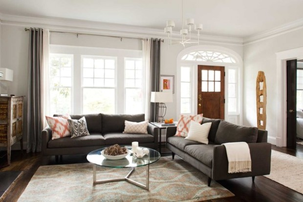 No Entryway? Create the Illusion of One - living room entrance design | living room entrance design
