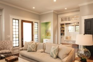 No Entryway? Create the Illusion of One | living room entrance design