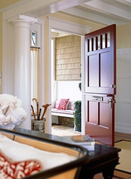 No Entryway? Create the Illusion of One - living room entrance | living room entrance