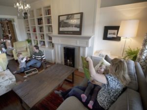 No more TV for you: How one family took their living room from ... | living room no tv