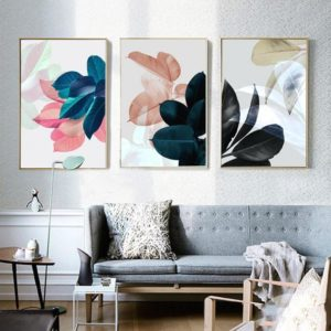 Nordic Art Paintings Wall Pictures For Living Room Posters Plants Leaves  Wall Art Canvas Painting Posters And Prints Unframed | living room wall art