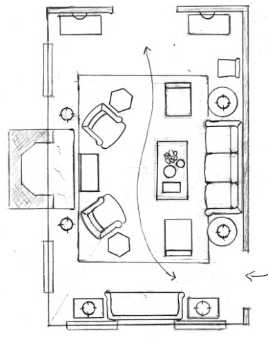 One Living Room Layout - Seven Different Ways!   Laurel Home - living room plan   living room plan