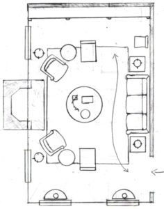 One Living Room Layout - Seven Different Ways! | Laurel Home | living room plan