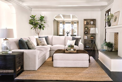 Ottoman Buying Guide | Living Spaces - living room ottoman | living room ottoman