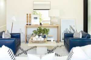 Our Living Room Makeover for a Hip Los Angeles Power Couple in ... | living room no tv