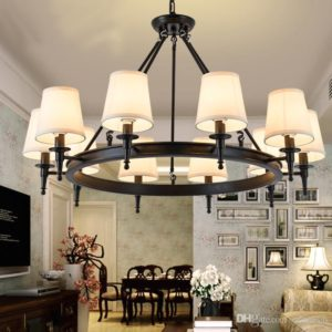 Pendant Light American Country Living Room Lights Hang Lamps Chandelier  Crystal Simple Iron Dining Room Bedroom Study Room Modern Hanging Light ... | living room light fixtures