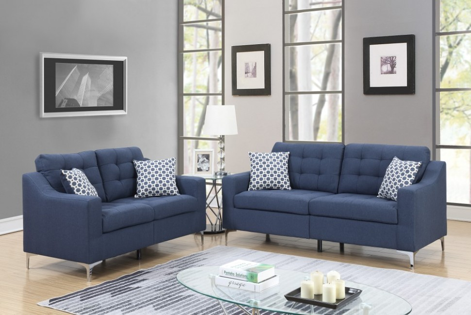 PriceBusters Special Navy Sofa & Love Under $20 - living room sofa | living room sofa