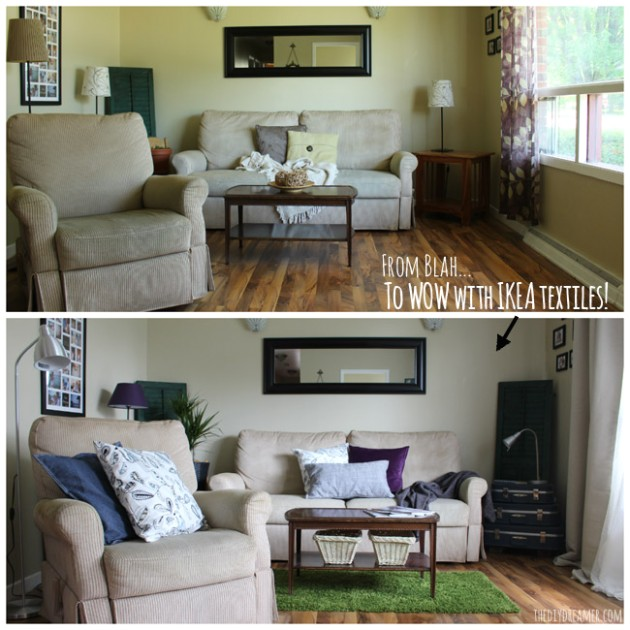 Quick & Easy Living Room Makeover - #IKEAMakeover - living room makeover | living room makeover