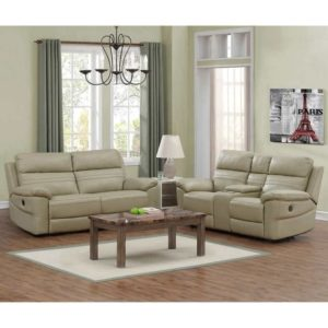 Rockhill 16-piece Top Grain Leather Power-Reclining Living Room Set   living room 2 piece set
