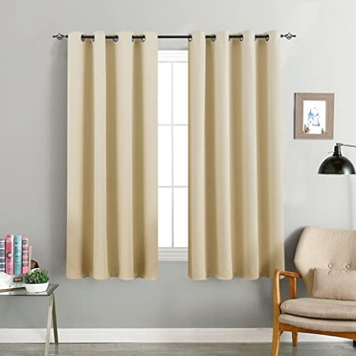 "Room Darkening Curtain 15 inches Long for Living Room Moderate Blackout  Window Curtain Panel for Bedroom Triple Weave Drape Grommet Top,15"" W x 15""  .. 