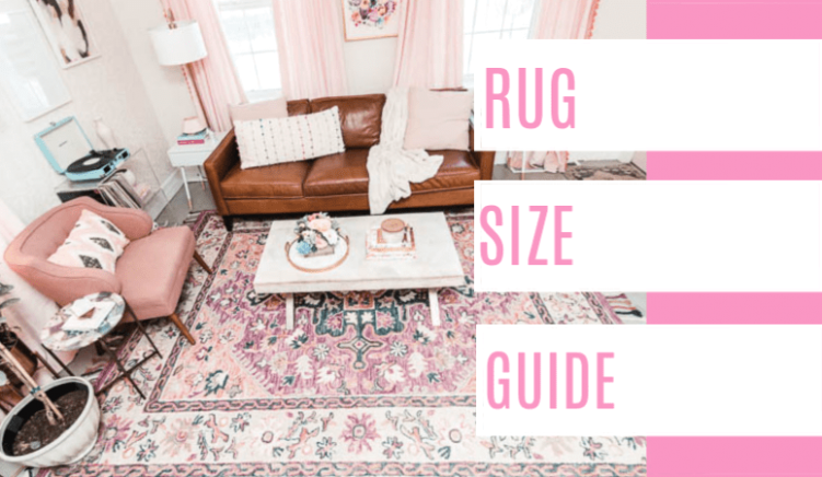 Rug Size Guide - at home with Ashley | living room rug size
