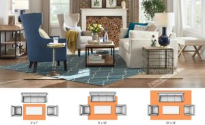 Rug Sizes for Your Space - The Home Depot | living room rug size