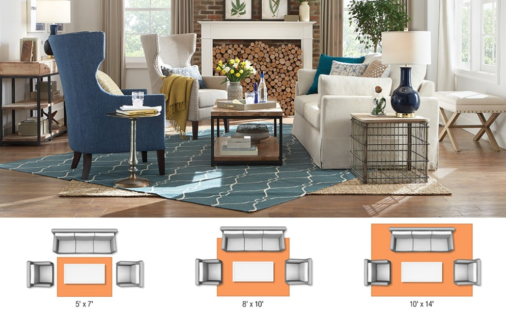 Rug Sizes for Your Space - The Home Depot - living room rug size | living room rug size
