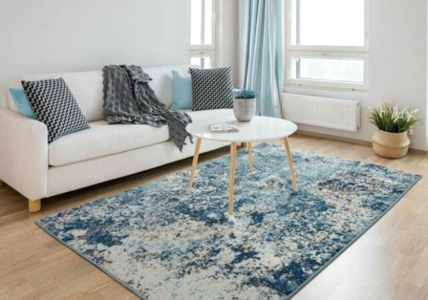 RUGS AREA RUGS CARPETS 20x20 RUG MODERN LARGE LIVING ROOM BIG FLOOR BLUE 20x20  RUGS - living room rugs | living room rugs