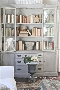 Savvy Southern Style : China Cabinets Art Not Just for Dining Rooms | living room hutch
