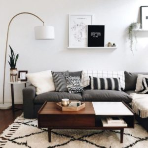 Scandinavian Living Room - Down to earth colors with black and ...   living room scandinavian